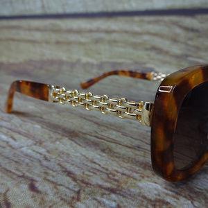 72b4f0967538f Nine West Accessories - Nine West Sunglasses Cat Eye Turtle Marble Gold